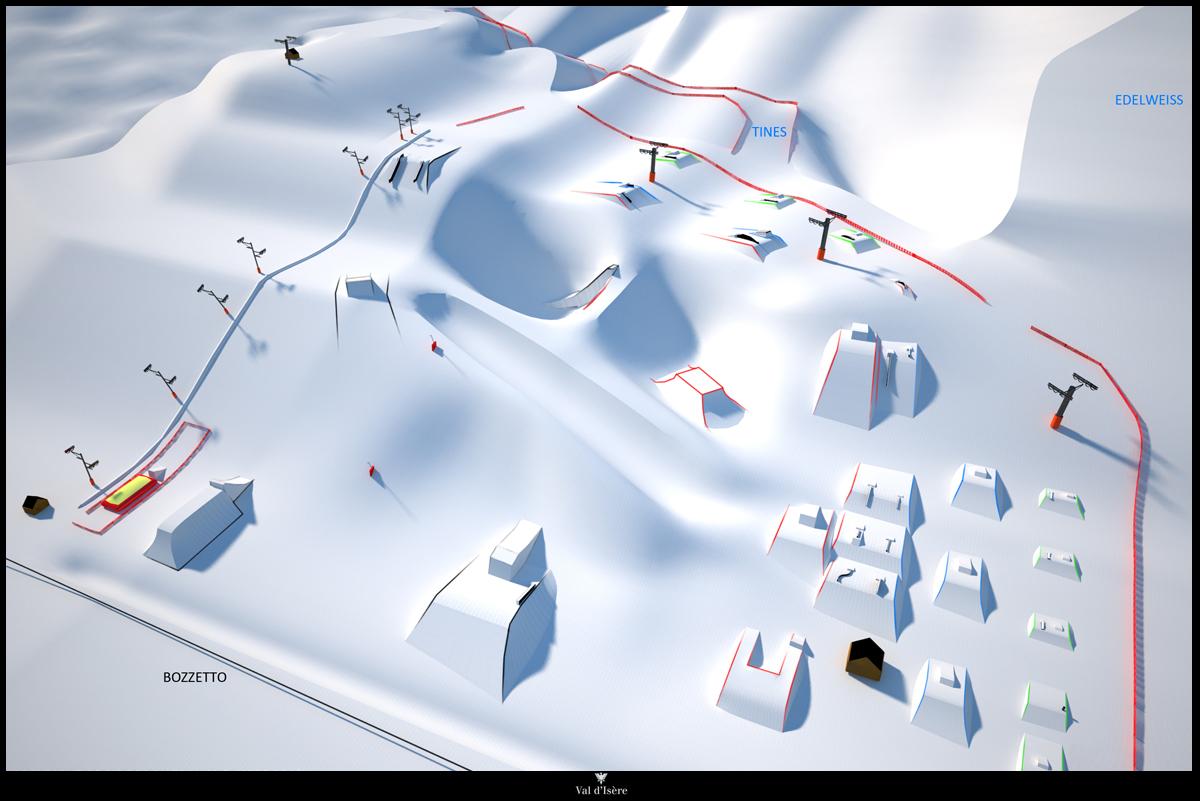 Maps Piste Maps of Val dIsere Valdinetcom