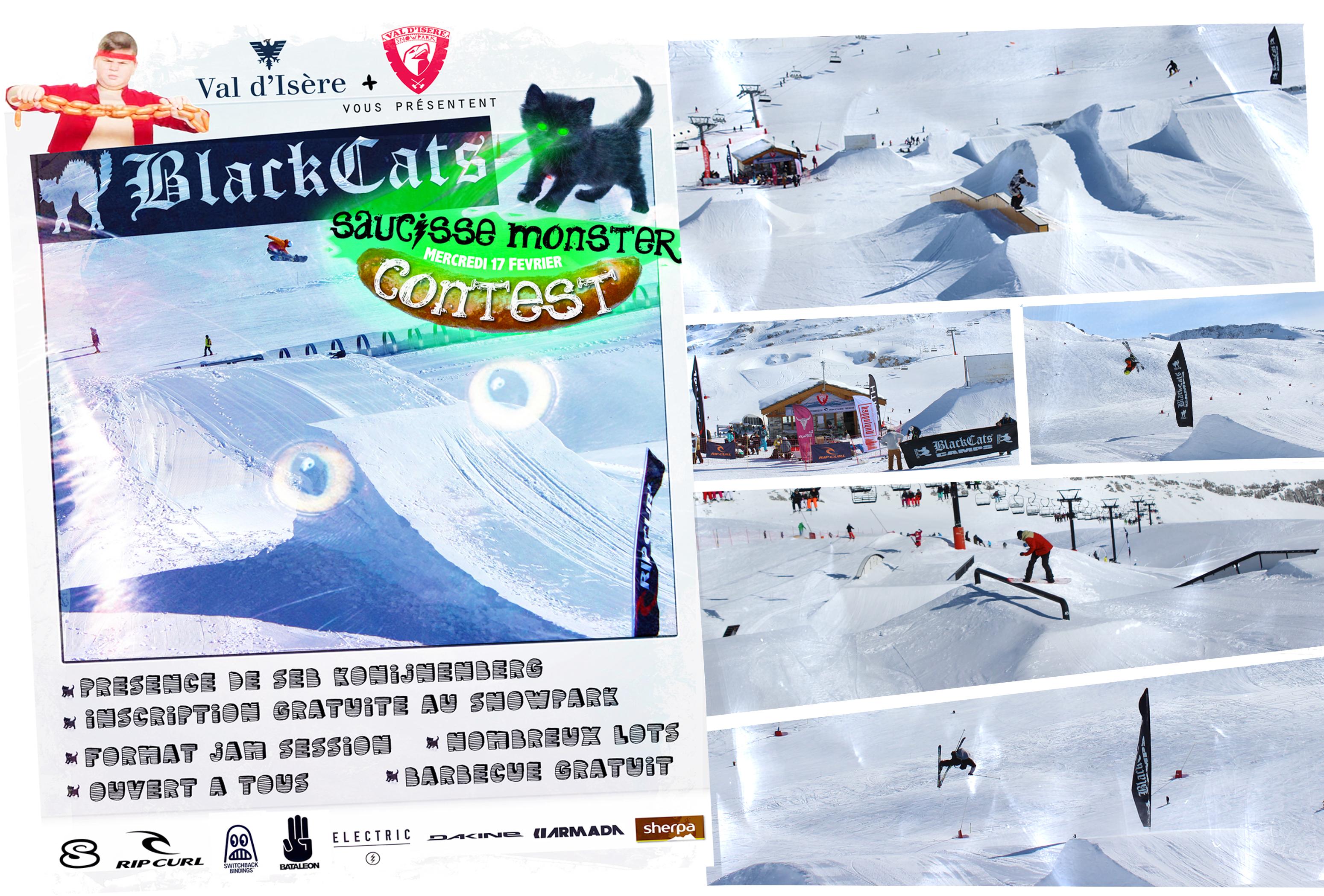 contest blackCats Val d'isère Snowpark